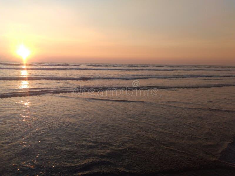 享用在海滩,海海滩 库存照片