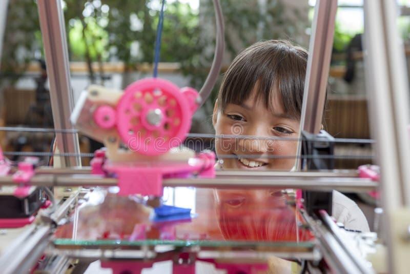 享用3D打印机 库存照片