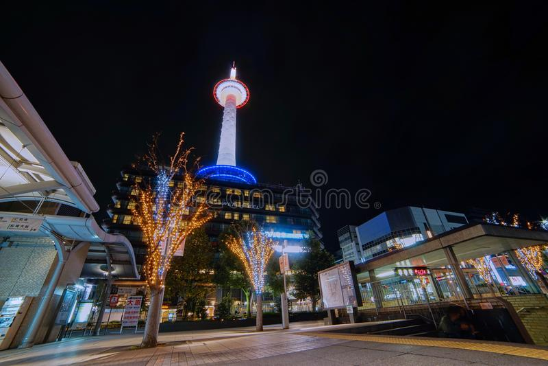 京都塔美丽的scenics  免版税图库摄影