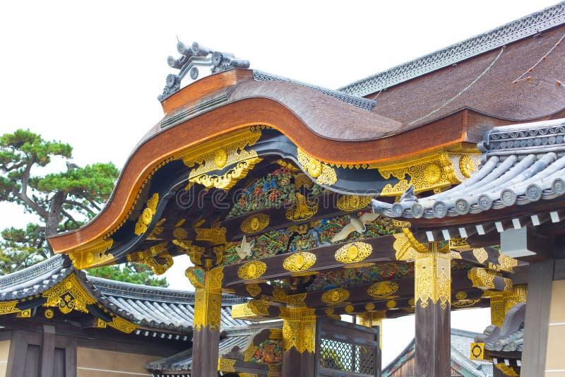 京都旅行:Nijo城堡Nijojo 免版税库存照片