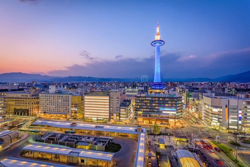 京都,日本地平线 免版税库存图片