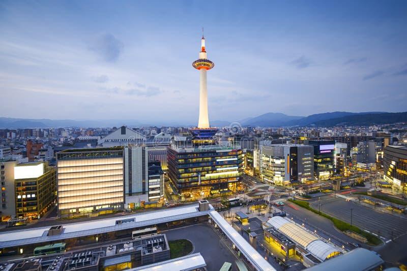 京都,日本市地平线 库存照片