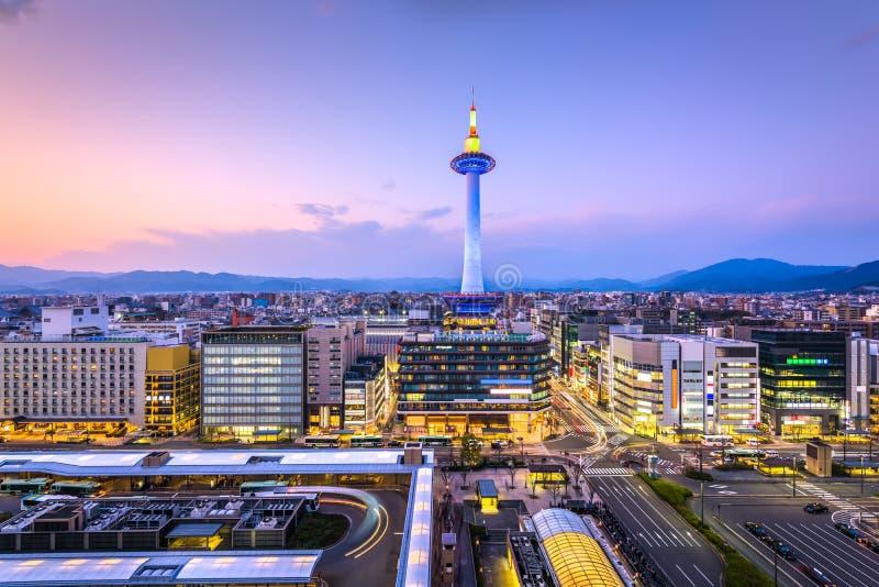 京都,日本市地平线 免版税库存照片