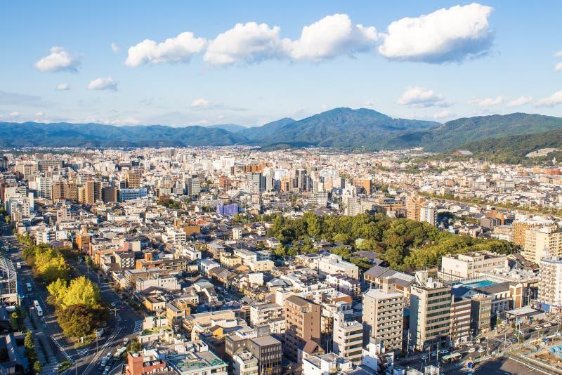 京都,日本都市风景  免版税库存图片