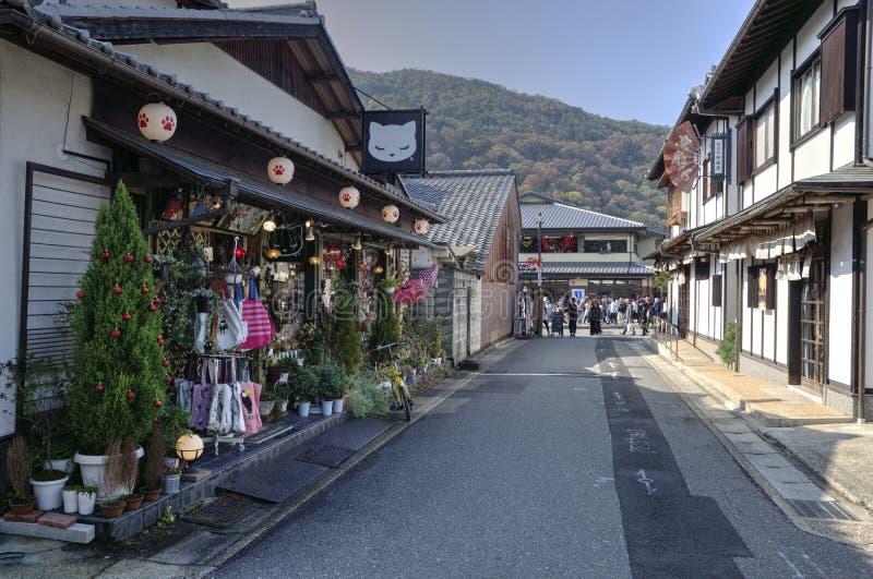 京都- Arashiyama街道,日本 免版税库存照片
