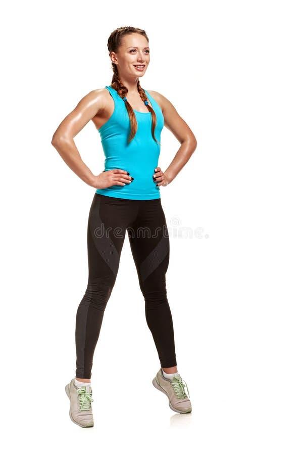 亭亭玉立的健身妇女 库存图片