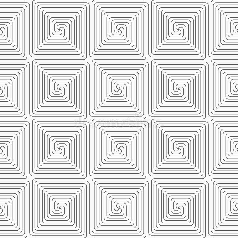 亭亭玉立的灰色方形的螺旋 库存例证