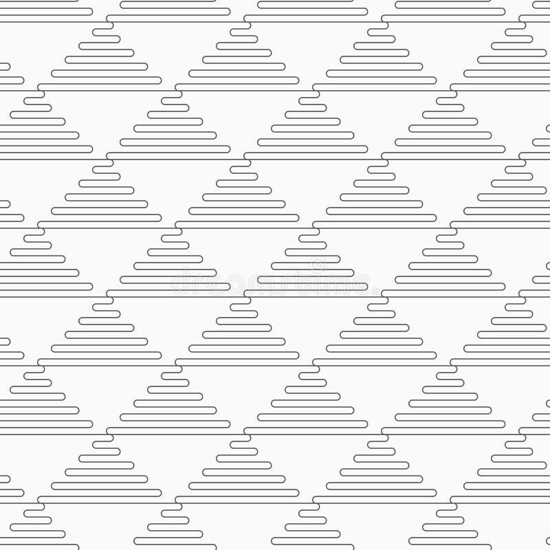 亭亭玉立的灰色波浪三角 向量例证