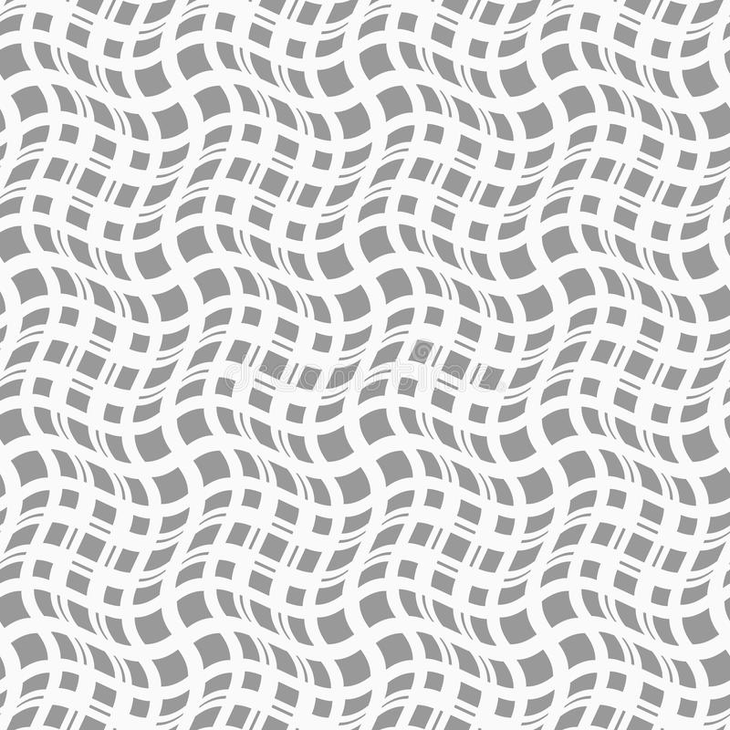 亭亭玉立的灰色波浪正方形用不同的大小 皇族释放例证