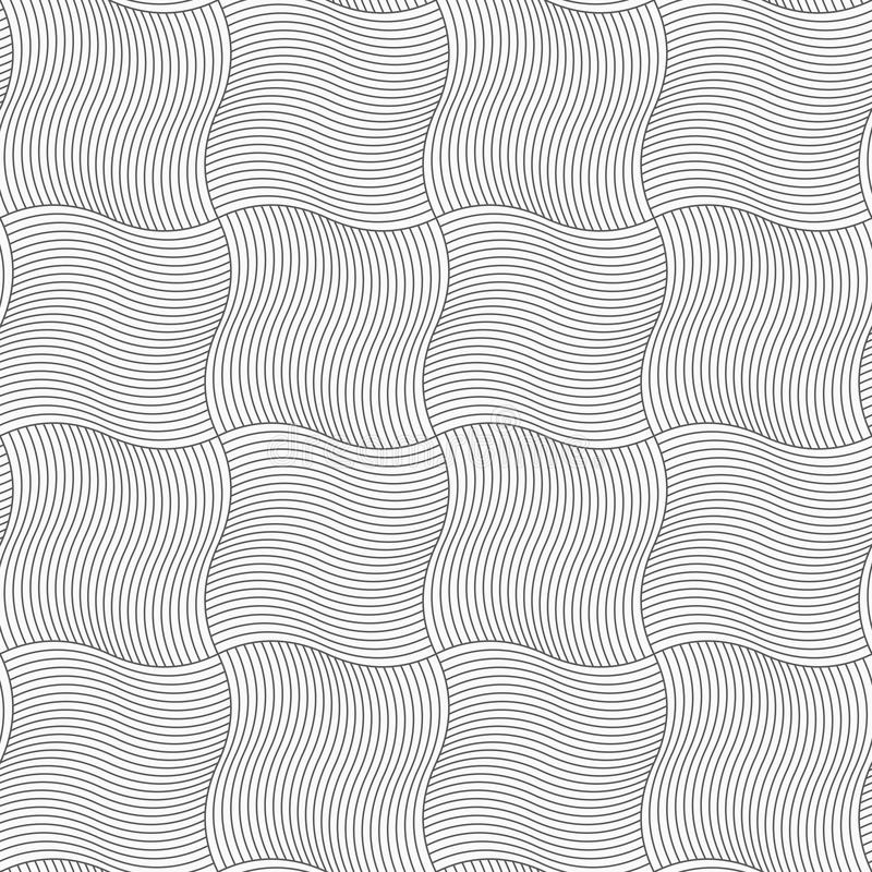 亭亭玉立的灰色波浪sriped正方形 向量例证