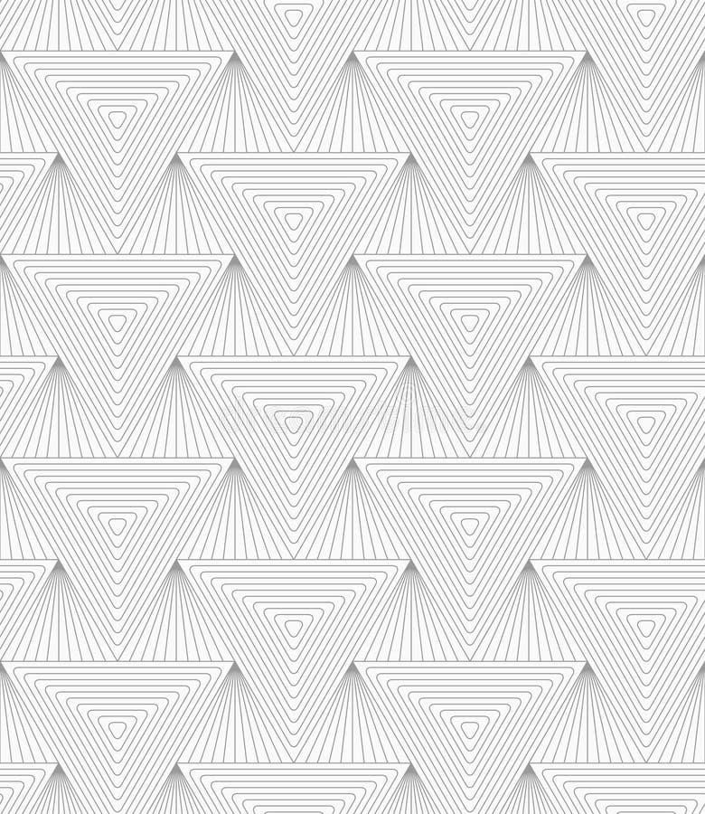 亭亭玉立的灰色被策划的三角 皇族释放例证