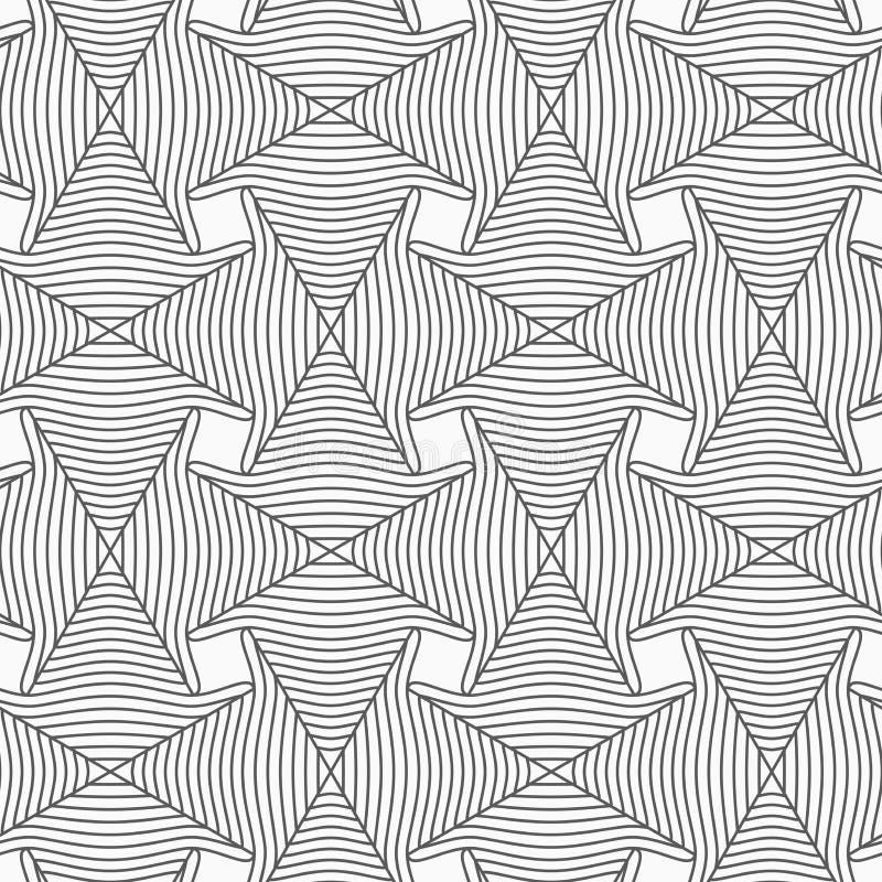 亭亭玉立的灰色镶边箭头 向量例证