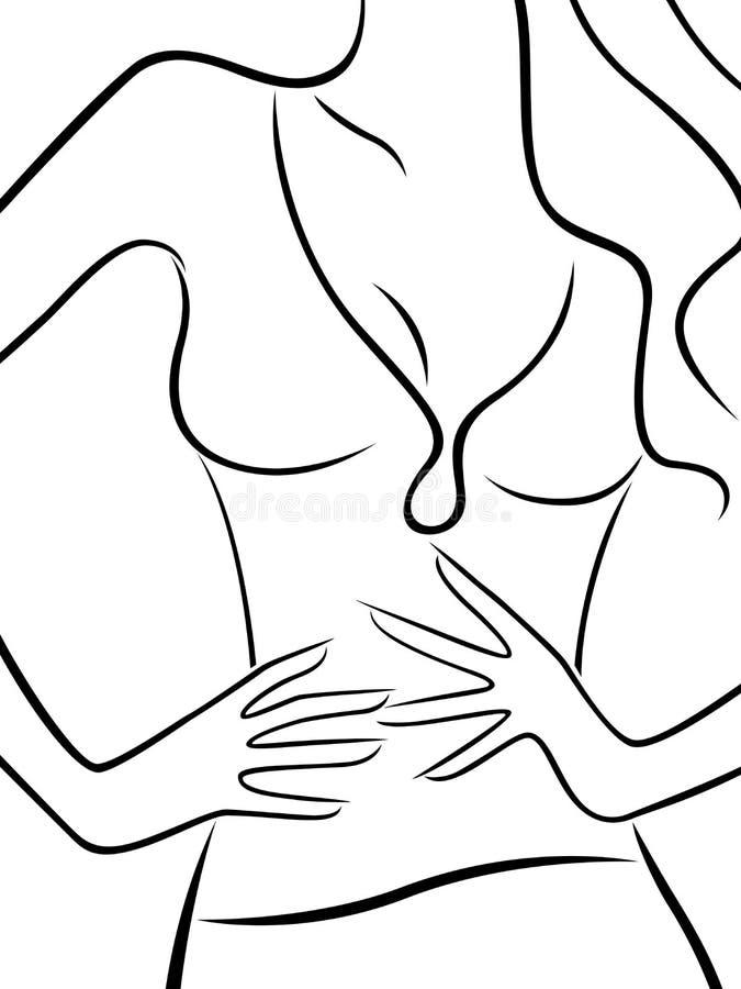 亭亭玉立的美丽的妇女的抽象身体 皇族释放例证