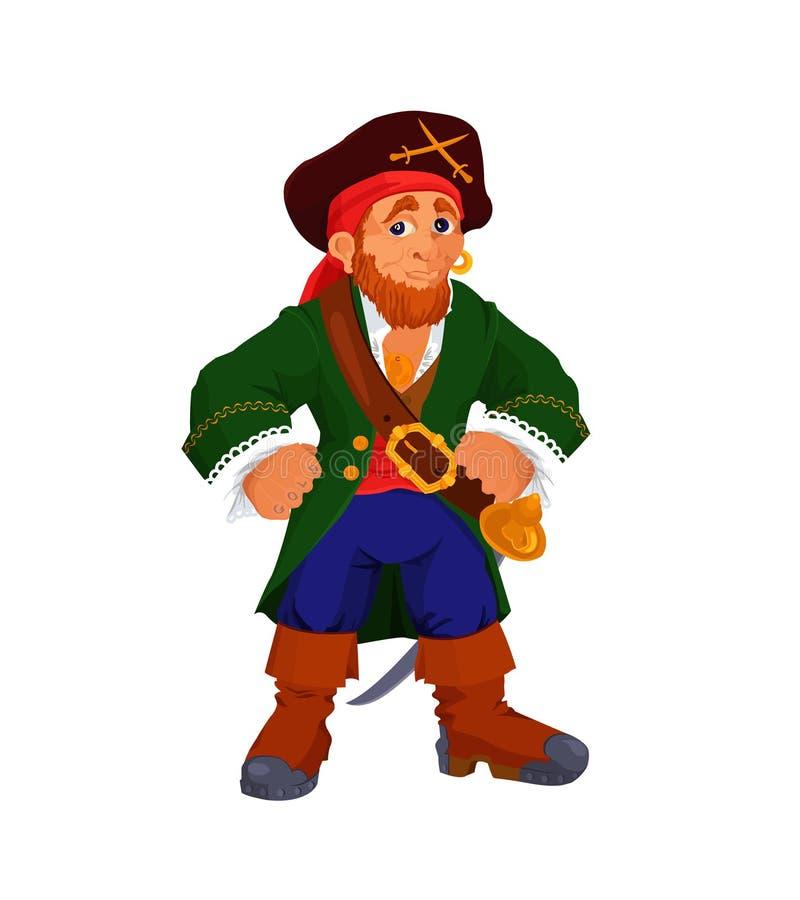 亲切的动画片海盗 向量例证