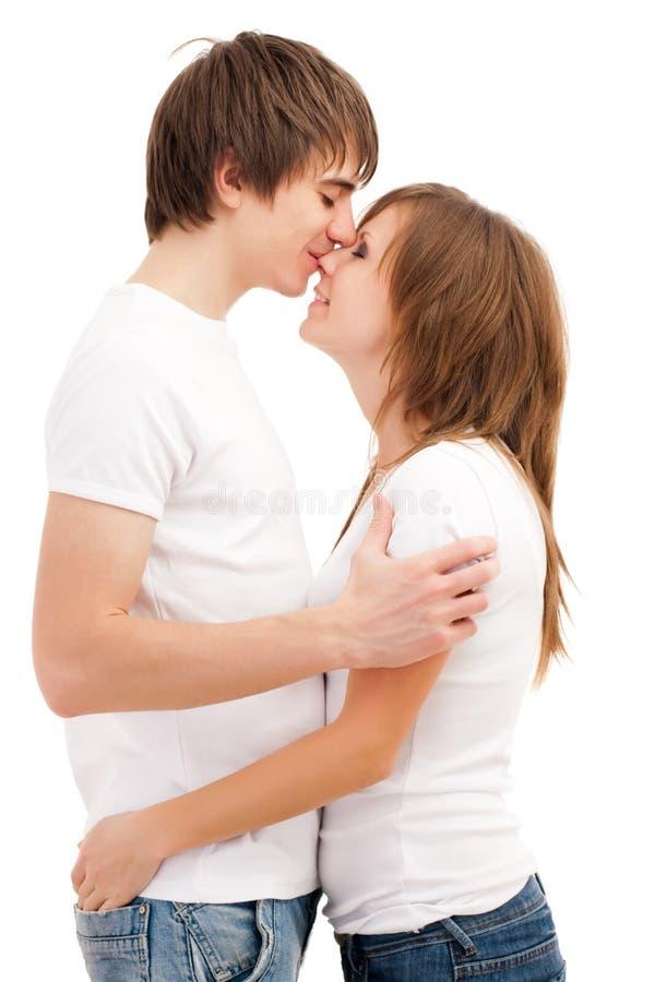 亲吻人妇女 库存照片
