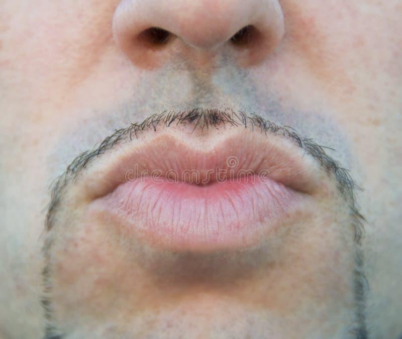 亲吻嘴唇供以人员发送 免版税图库摄影