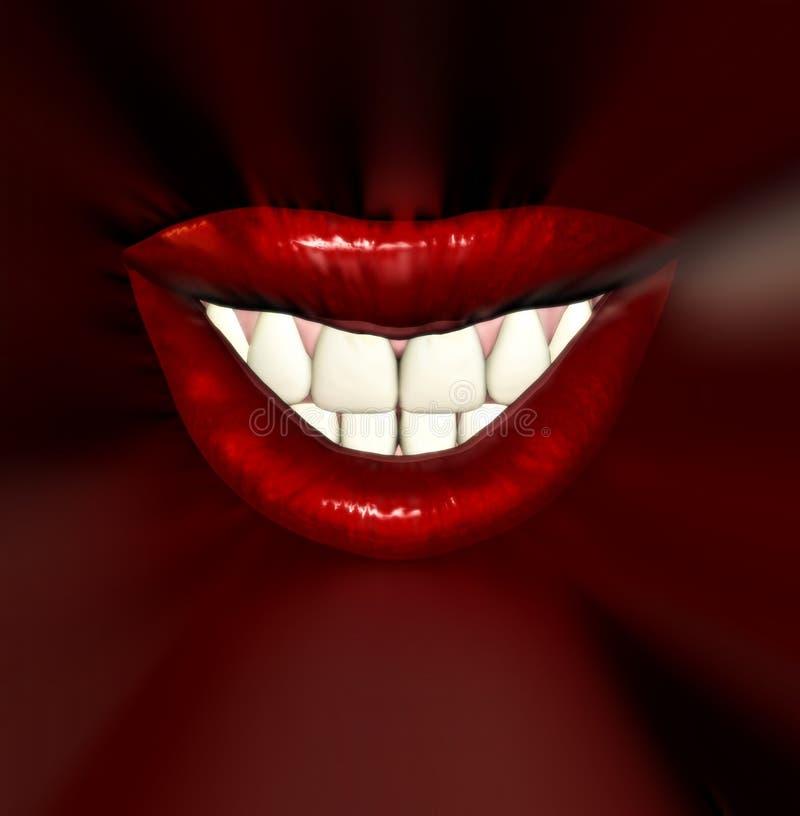 亲吻嘴唇8 向量例证