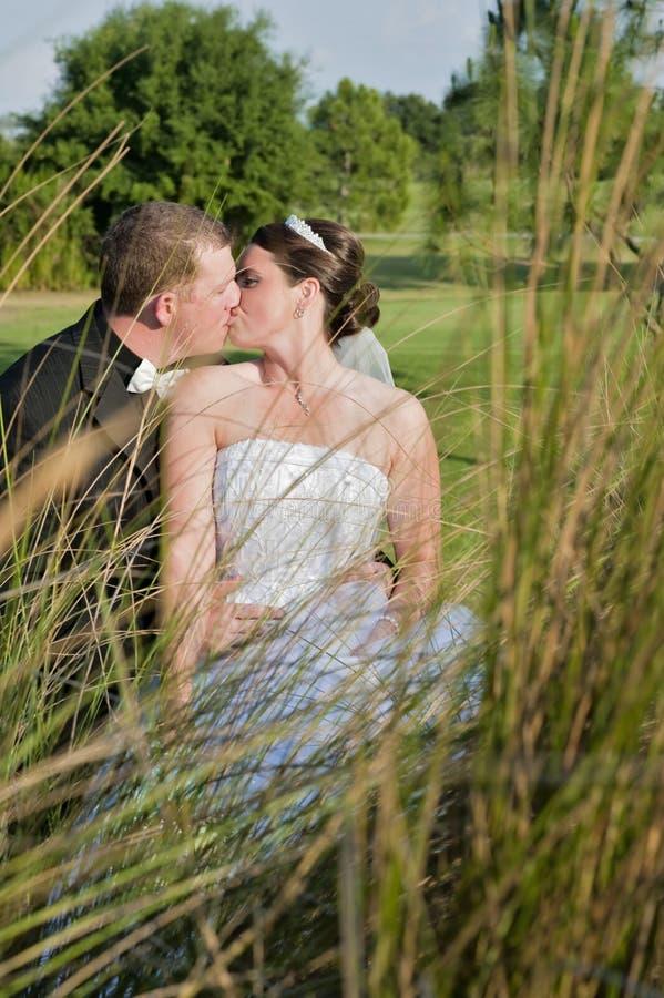 亲吻婚礼 免版税图库摄影