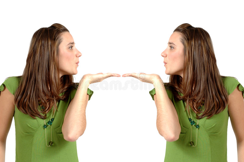 亲吻孪生 免版税库存图片