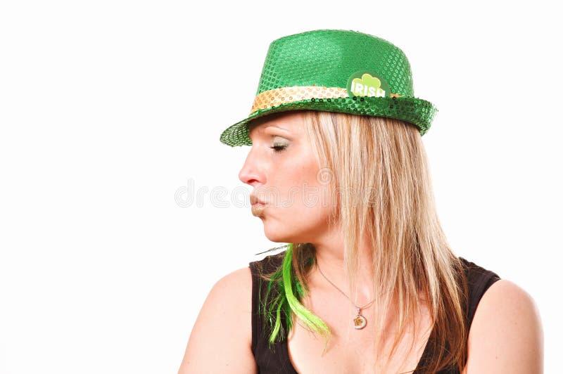 亲吻我爱尔兰人圣帕特里克` s天 库存图片