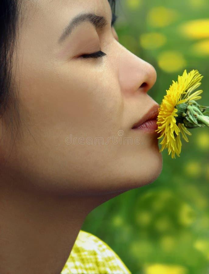 亲吻春天夏天 库存照片