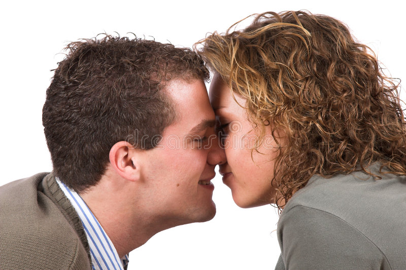 亲吻甜点 免版税库存照片