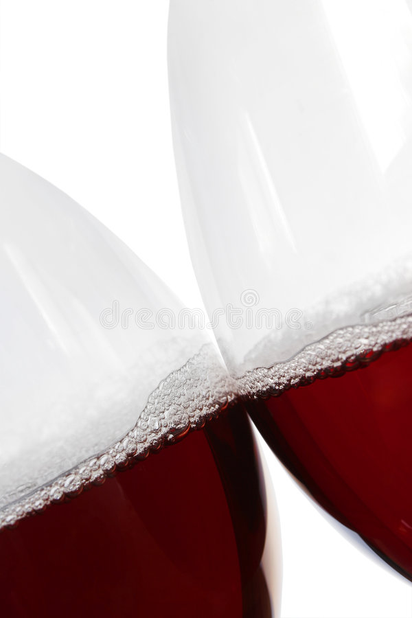 亲吻红葡萄酒 免版税库存图片