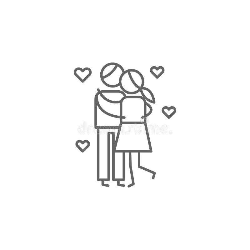 亲吻,爱,父母象 家庭生活象的元素 : ?? 皇族释放例证