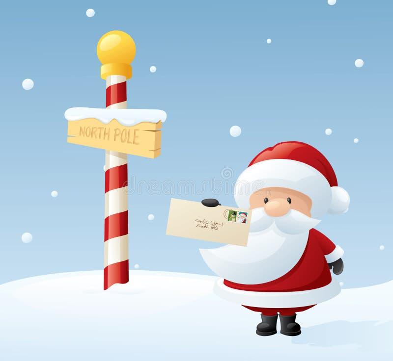 亲爱的圣诞老人 库存例证