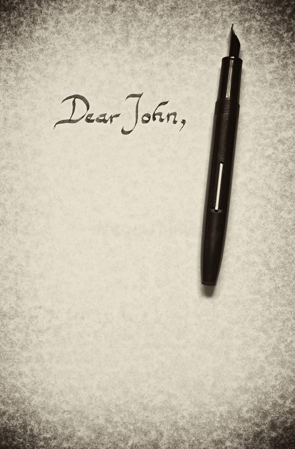 亲爱的约翰 免版税库存图片