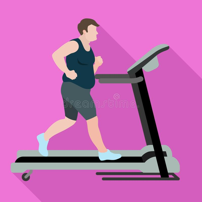 人丢失重量踏车象,平的样式 向量例证