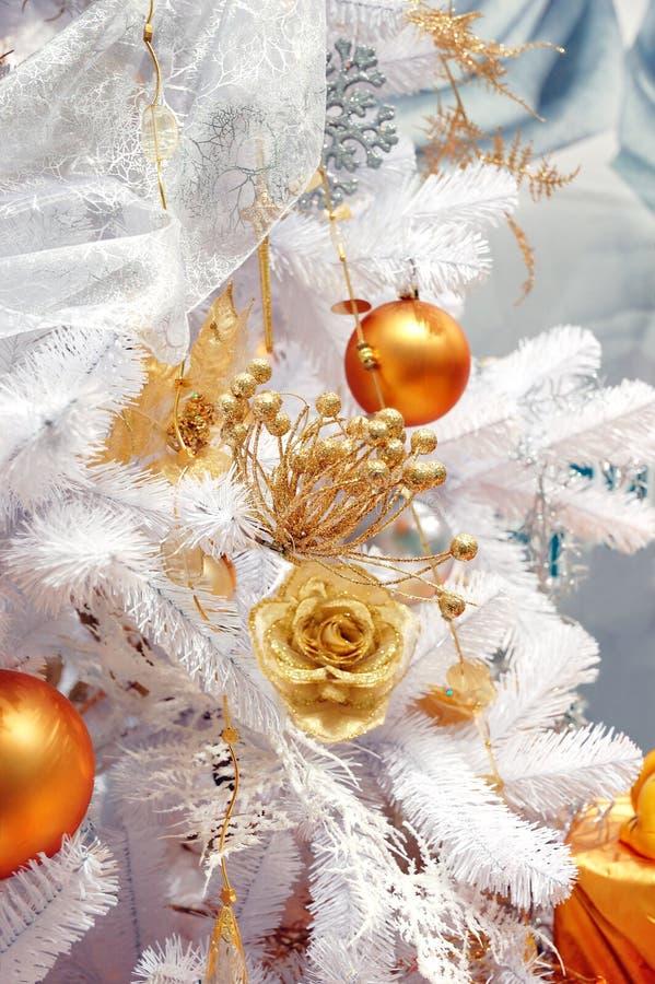 人为圣诞树白色 免版税图库摄影