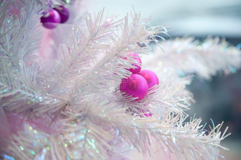 人为圣诞节详细资料结构树 图库摄影