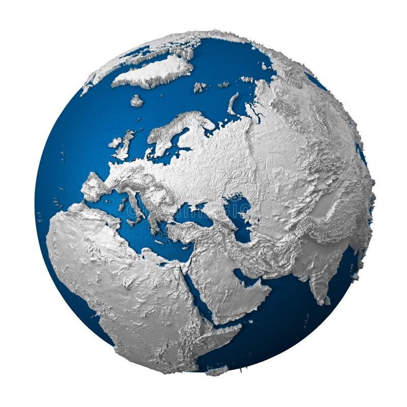 人为地球欧洲 库存例证