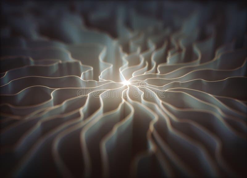 人为神经元概念 皇族释放例证