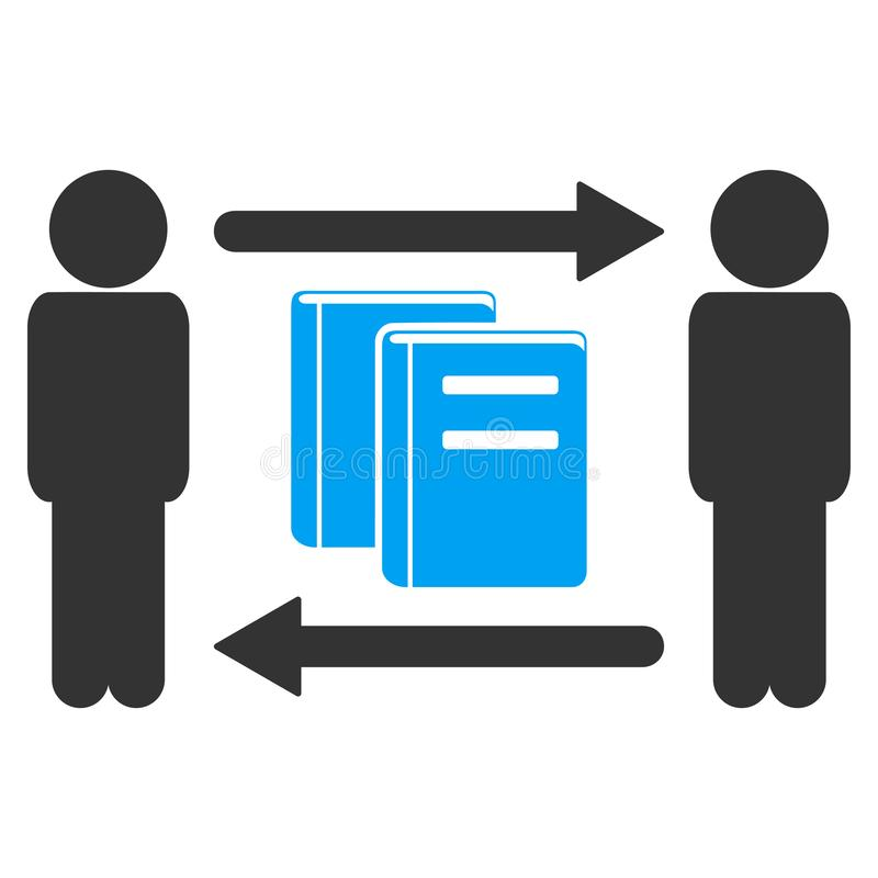 人书籍交换传染媒介象 库存例证