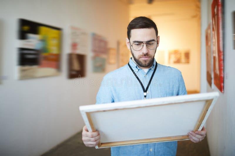 人买的图片在博物馆 图库摄影