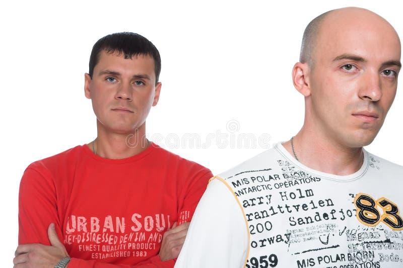 人二个年轻人 免版税库存图片