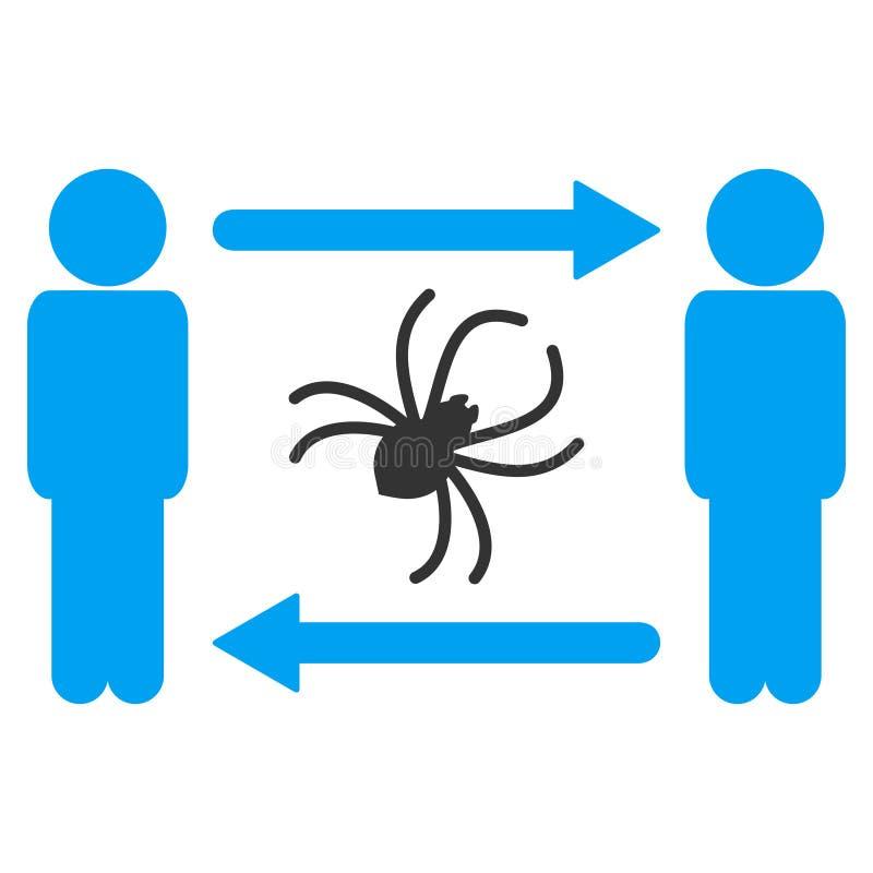 人交换寄生生物光栅象 向量例证