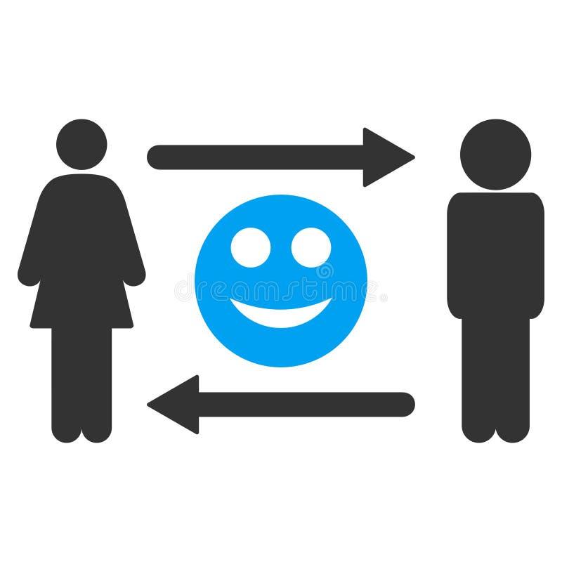 人交换微笑传染媒介象 向量例证