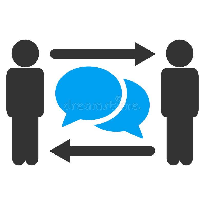 人交换消息传染媒介象 向量例证