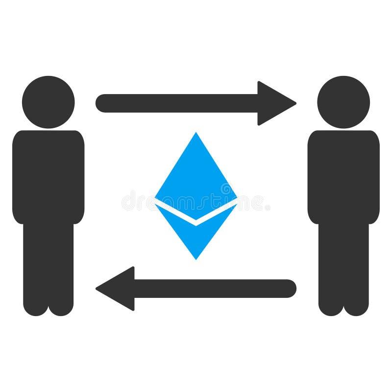 人交换Ethereum传染媒介象 库存例证