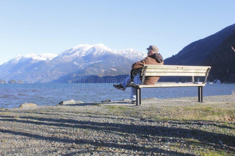 人享受风景视图 免版税库存照片