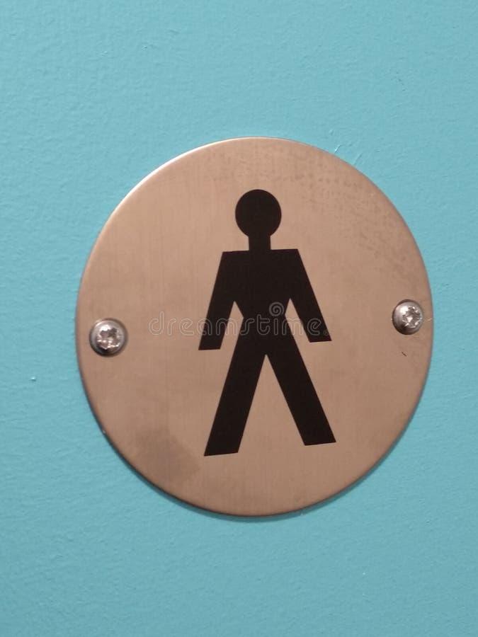 人人绅士在洗手间门的先生们标志 免版税库存照片