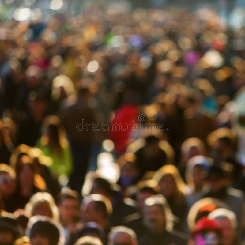 人人群在焦点外面的 免版税库存图片