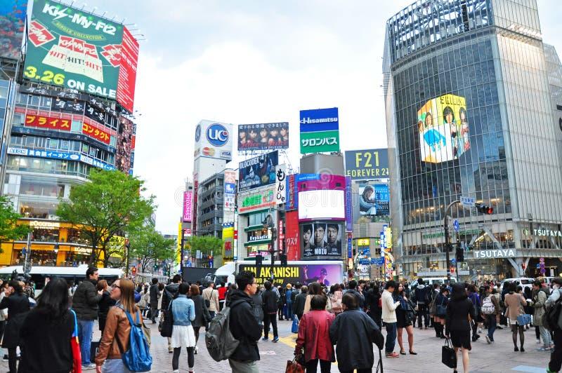 人人群涩谷的 免版税库存照片