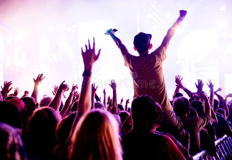 人人群音乐会的 库存图片