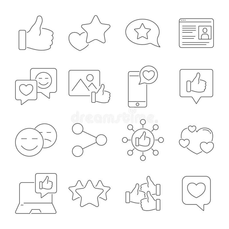 人人脉、网络和媒介象 包含例如外形页,规定值,喜欢,社会链接和其他 向量例证