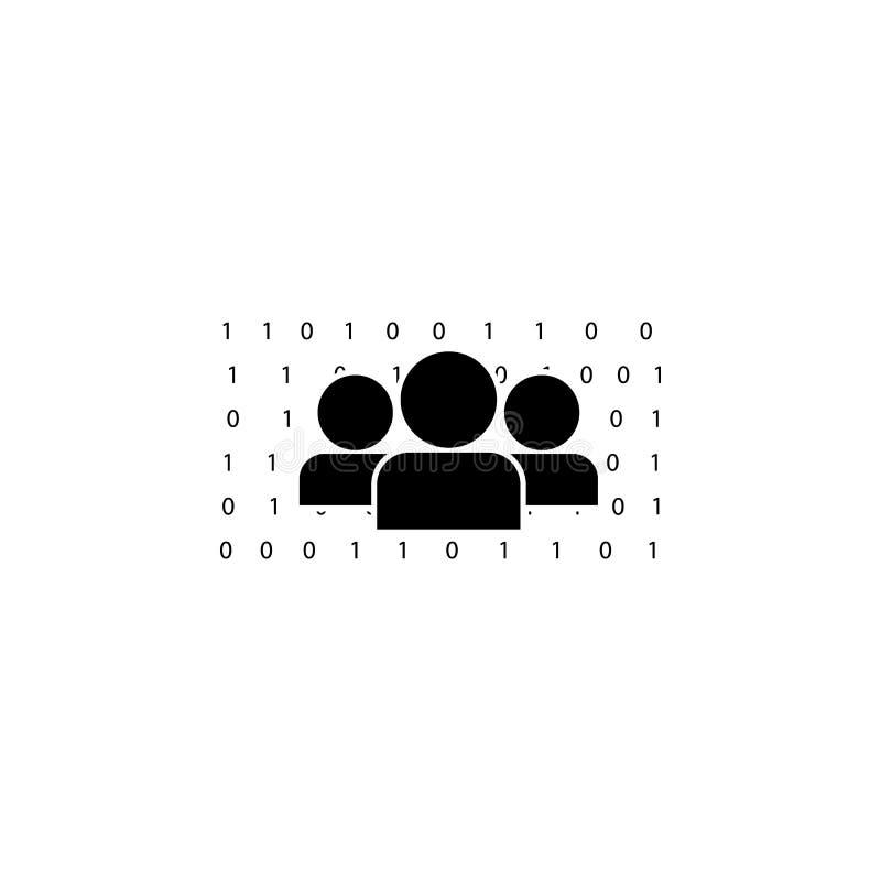 人们和数字矩阵象 一个犯罪场面象的例证 优质质量图形设计象 标志和标志col 皇族释放例证