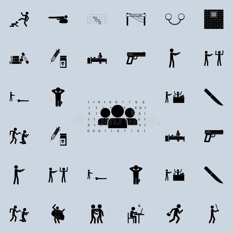 人们和数字矩阵象 详细的套罪行象 优质质量图形设计标志 其中一个汇集象为 皇族释放例证